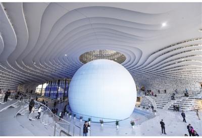 """天津滨海新区文化中心图书馆总建筑面积33700平方米,设计立意""""滨海之图片"""